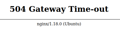nginx gateway time-out page